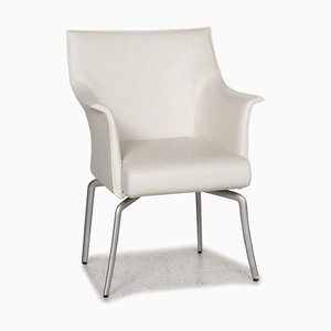 White Leather Dining Chair from Rolf Benz