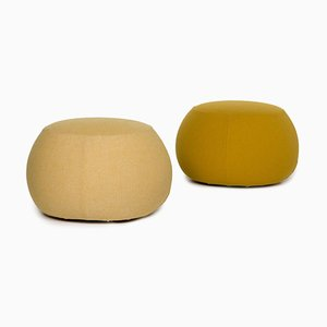 Yellow Fabric Pix 67 Stools from Arper, Set of 2
