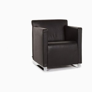 Black Quant Leather Armchair from Cor