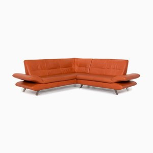 Terracotta Orange Rossini Leather Corner Function Sofa from Koinor