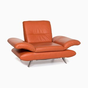 Terracotta Orange Rossini Leather Function Armchair from Koinor