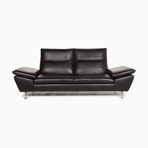 Black Leather 2-Seat Function Sofa from Mondo