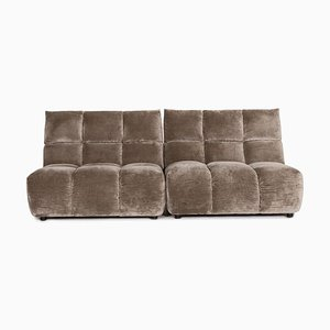 Grey Ocean 7 Velvet Fabric 2-Seat Function Sofa from Bretz
