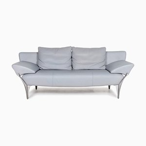 Light Blue 1600 Leather 3-Seat Function Sofa from Rolf Benz