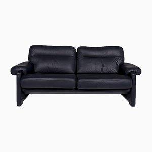Blaues DS 2 Leder 2-Sitzer Sofa von de Sede