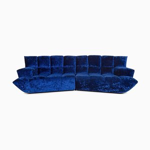 Blue Cloud 7 Velvet Fabric Corner Sofa by Bretz Brothers for Bretz