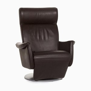 Dark Brown Leather Armchair with Relac Function from Laauser