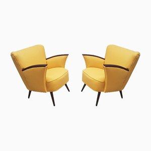 Mid-Century Gelbe Klubsessel, 1960er, 2er Set