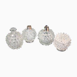 Flacons de Parfum en Verre, Italie, 1940s, Set de 4