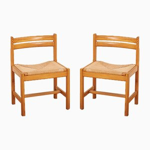Mid-Century Model Asserbo Dining Chairs by Børge Mogensen for AB Karl Andersson & Söner, 1960s, Set of 2