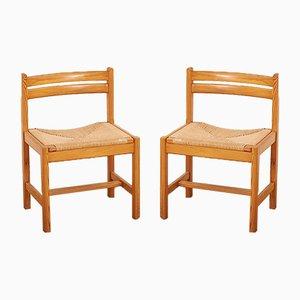 Mid-Century Modell Asserbo Esszimmerstühle von Børge Mogensen für AB Karl Andersson & Söner, 1960er, 2er Set