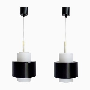Danish Modern Pendant Lamps in the Style of Fog & Morup, 1960s, Set of 2