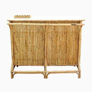 Italian Bamboo Bar Table, 1950s