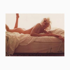 Marilyn Color Nude on the Bed by Bert Stern, 2009