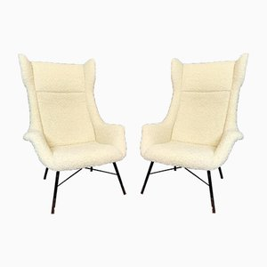 Wing Back Armchairs by Miroslav Navratil, 1960s, Set of 2