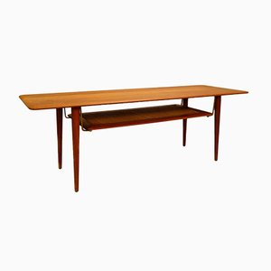 Danish FD516 Coffee Table in teak by Peter Hvidt & Orla Molgaard Nielsen, 1950s