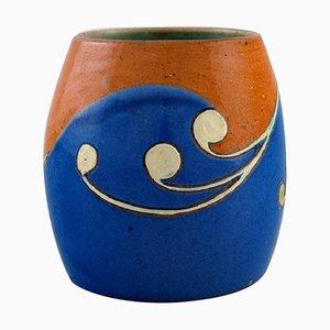 Art Nouveau Höganäs Vase in Glazed Ceramic