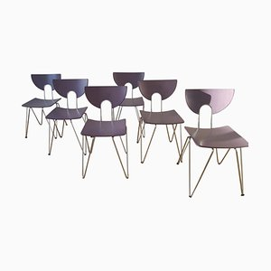 Mikado 1800 Chairs by Walter Leeman for Kusch+Co, 1979, Set of 7
