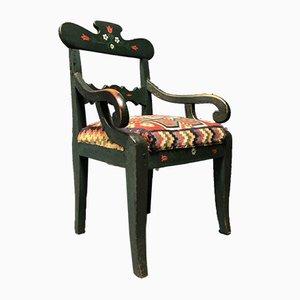 Antique Swedish Dark Green Chair