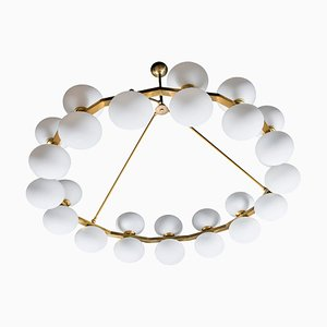Vintage Chandelier with 27 Glass Globes
