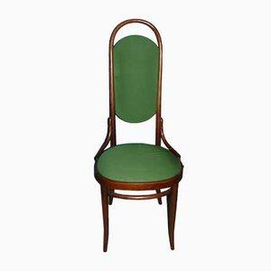 Sedie da pranzo Mid-Century con schienale alto verde di Michael Thonet per Thonet, set di 6