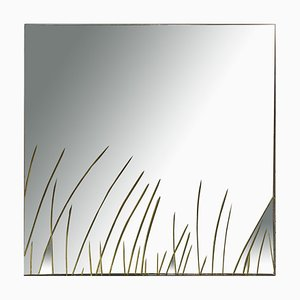 Mid-Century Engraved Mirror from Cristal Art, 1960s