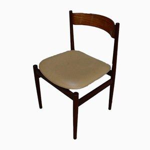 Italienische Esszimmerstühle aus Skai & Holz von Gianfranco Frattini für Cassina, 1970er, 6er Set