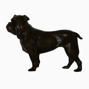 Kleine Bulldogge Skulptur aus Bronze, 1930er
