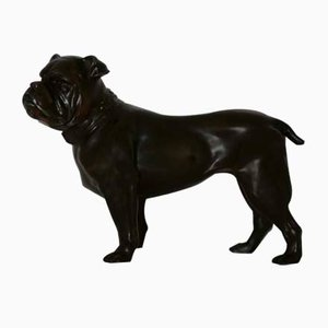 Small Bulldog Bronze Sculpture, 1930s