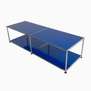 Blue Shelf or Table by Fritz Haller & Paul Schärer for USM Haller, 1980s
