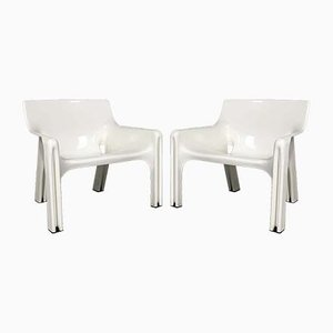Vicario Lounge Chairs by Vico Magistretti for Artemide, 1970s, Set of 4