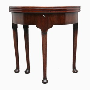 18th Century Mahogany Triple Top Game Table