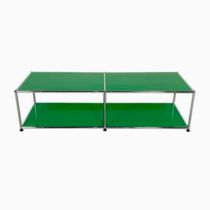 Green Shelf Table by Fritz Haller & Paul Schärer for USM Haller, 1980s
