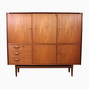 Danish Solid Teak Highboard, 1960s