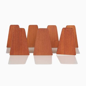 Danish Teak Bookends by Kai Kristiansen for Feldballes Møbelfabrik, 1960s, Set of 7