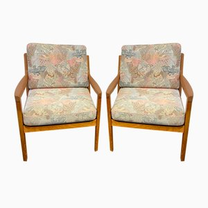 Teak Senator Armchairs by Ole Wanscher for Cado, Denmark, 1960s, Set of 2