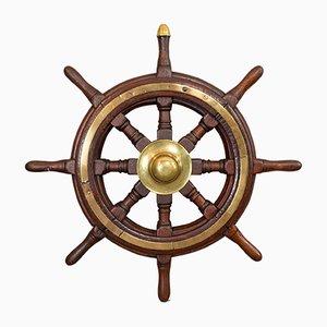 Roue de Navire Victorien Antique en Chêne, Royaume-Uni