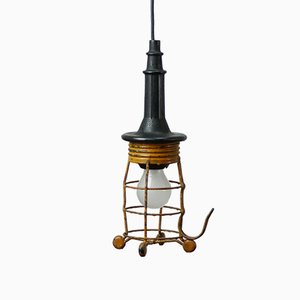 Vintage Industrial Pendant Lamp from Simplex, 1940s