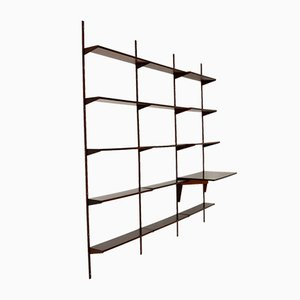 Danish Rosewood Shelving System by Kai Kristiansen for FM Møbler, 1960s