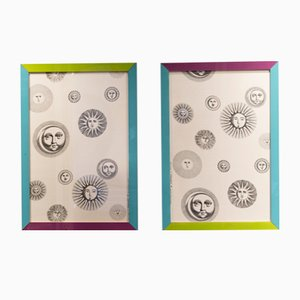 Soli e Lune Series Cotton Panels by Atelier Fornasetti, Set of 2