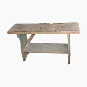 Small Antique Country Seat Bench