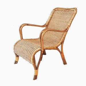 Vintage Wicker Armchairs, Set of 2