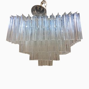Large Murano Glass Triedro Sputnik Chandelier Square from Italian Light Design