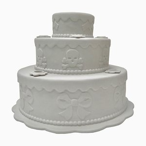 Biscuit Porcelain Tiered Cake Candleholder Centerpiece by Studio Job, 2006