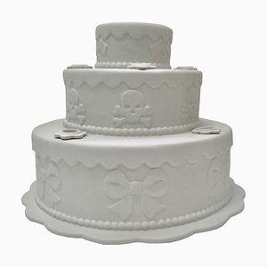 Gestufter Kuchen Kerzenhalter aus Biskuitporzellan von Studio Job, 2006