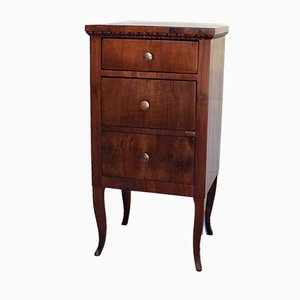 19th Century Louis XV Italian Walnut Nightstands