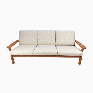 Teak 3-Sitzer Sofa von Juul Kristensen für Glostrup, 1970er