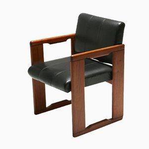 Chaise en Cuir Vintage par Tobia Scarpa