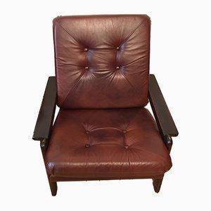 Large Vintage Brown Armchairs, 1960s, Set of 2