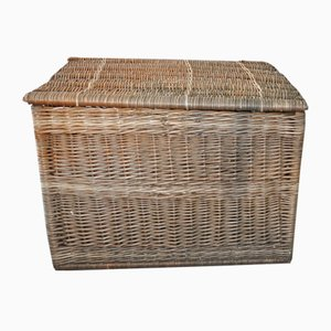 Large Vintage Basket with Lid, 1940s